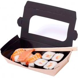 """Paper Take-out Container """"Premium"""" 19x10x3,5cm 480ml (400 Units)"""