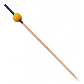 Bamboo Food Pick Black and Yellow 12cm (5000 Units)