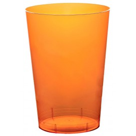 "Plastic Cup PS ""Moon"" Orange Clear 230ml (50 Units)"