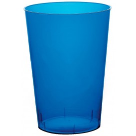"""Plastic Cup PS """"Moon"""" Blue Clear 230ml (50 Units)"""