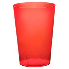 """Plastic Cup PS """"Moon"""" Red Clear 230ml (50 Units)"""