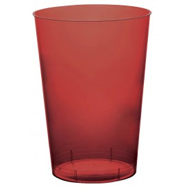 "Plastic Cup PS ""Moon"" Burgundy Clear 230ml (35 Units)"