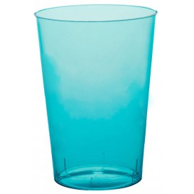 """Plastic Cup PS """"Moon"""" Turquoise Clear 230ml (50 Units)"""