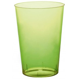 "Plastic Cup PS ""Moon"" Lime Green Clear 230ml (1000 Units)"