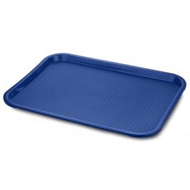 Plastic Tray Fast Food Blue 35,5x45,3cm (12 Units)