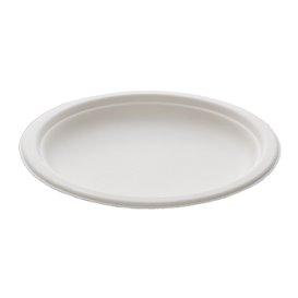 Sugarcane Plate White Ø18 cm (50 Units)