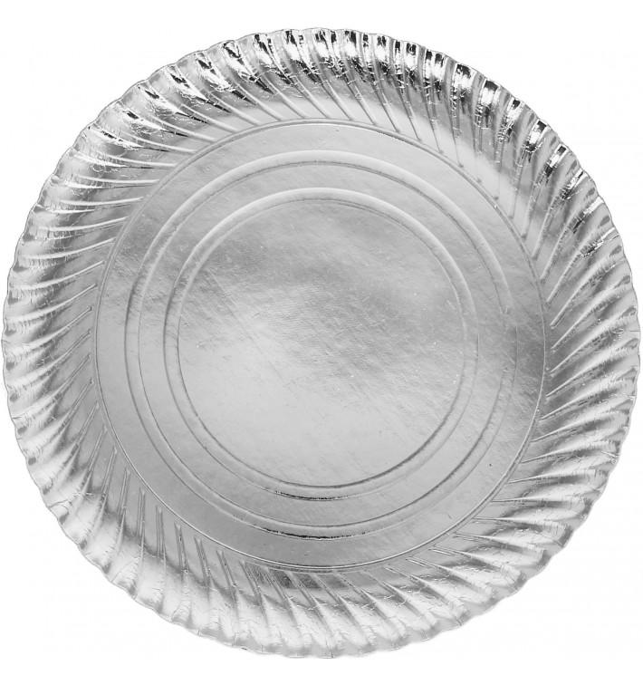 Paper Plate Round Shape Silver 30cm (400 Units)