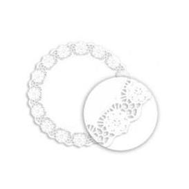 """Paper Lace Doilie """"Litos"""" White Ø10cm (250 Units)"""