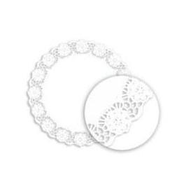 """Paper Lace Doilie """"Litos"""" White Ø18cm (250 Units)"""