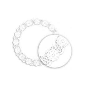 """Paper Lace Doilie """"Litos"""" White Ø34cm (1000 Units)"""
