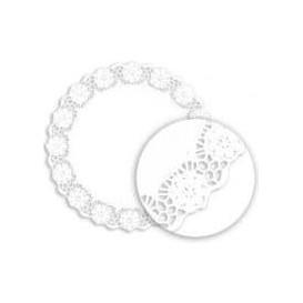 """Paper Lace Doilie """"Litos"""" White Ø40cm (1000 Units)"""