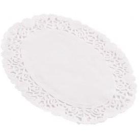"""Paper Lace Doilie Oval Shape """"Litos"""" White 16x23cm (2000 Units)"""