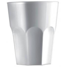 Plastic Shot SAN Reusable White 40ml (6 Units)
