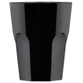 "Plastic Glass SAN Reusable ""Rox"" Black 300ml (8 Units)"