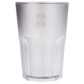 """Plastic Glass SAN Reusable """"Frost"""" Clear 400 ml (5 Units)"""