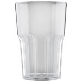 "Plastic Glass SAN Reusable ""Granity"" Clear 400 ml (5 Units)"