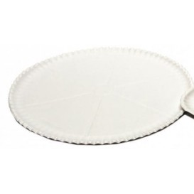 Paper Pizza Plate White Ø33cm (50 Units)