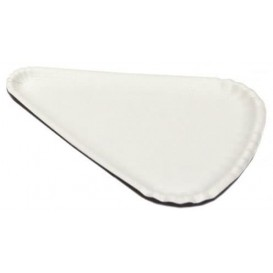Paper Pizza Plate White Triangular Shape 1/8 24x18 (100 Units)