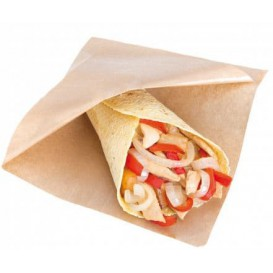 Paper Food Bag Grease-Proof Opened L Shape 12x12,2cm Natural (6000 Units)