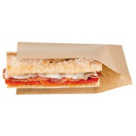 Paper Bag Grease-Proof Opened 20x13/10cm Natural (100 Units)