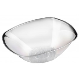 "Plastic Bowl PS Crystal Hard ""Square"" 3000ml Ø27,7cm (30 Units)"