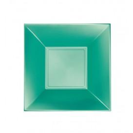 "Plastic Plate Deep Green ""Nice"" Pearl PP 18 cm (300 Units)"