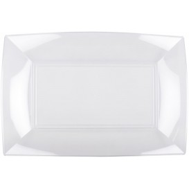 "Plastic Tray Clear ""Nice"" 34,5x23 cm (6 Units)"
