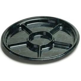 Plastic Tray Marble 6C 30 cm (50 Uds)