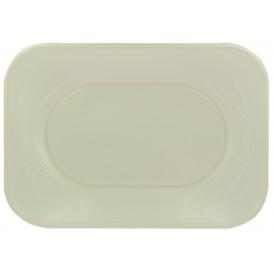 "Plastic Tray Microwavable ""X-Table"" Pearl 33x23cm (2 Units)"