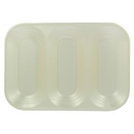 "Plastic Compartment Tray ""X-Table"" 3C Pearl 33x23cm (2 Units)"
