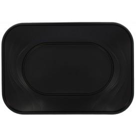 """Plastic Tray Microwavable """"X-Table"""" Black 33x23cm (2 Units)"""