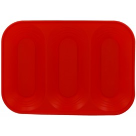 """Plastic Tray Microwavable """"X-Table"""" 3C Red 33x23cm (30 Units)"""
