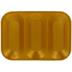 "Plastic Tray Microwavable ""X-Table"" 3C Gold 33x23cm (2 Units)"
