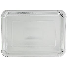 Paper Tray Rectangular shape Silver 18x24cm (800 Units)