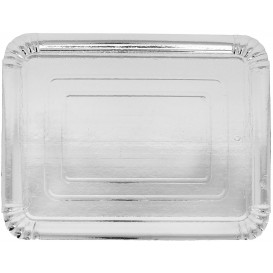 Paper Tray Rectangular shape Silver 25x34cm (400 Units)