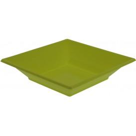Plastic Plate Deep Square shape Pistachio Green 17 cm (25 Units)