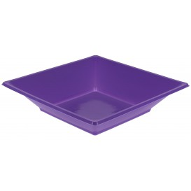 Plastic Plate Deep Square shape Lilac 17 cm (300 Units)