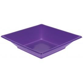 Plastic Plate Deep Square shape Lilac 17 cm (25 Units)