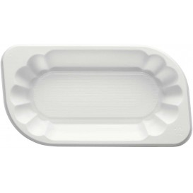 Plastic Tray White 17,5x9,5x3cm 250ml (250 Units)