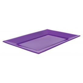 Plastic Tray Lilac 33x22,5cm (25 Units)