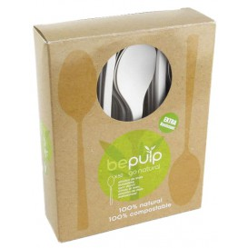 Cornstarch Teaspoon PLA Biodegradable White 12cm (500 Units)