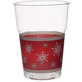 "Plastic Cup PS Crystal ""Diamant"" ""Snowflake"" 200ml (10 Units)"