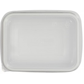 Plastic Lid for Tray Clear 12,7x9,1x4,2cm (100 Units)