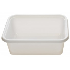 Plastic Tray White 15,7x11,2x5,1cm 500ml (100 Units)