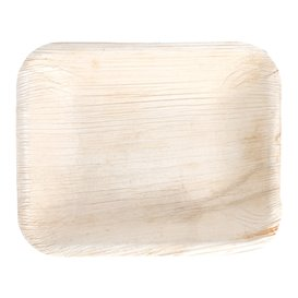 Palm Leaf Tray Rectangular Shape 16x12,5x3cm (25 Units)
