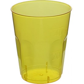 "Plastic Shot PS Crystal ""Diamant"" Yellow 50ml (20 Units)"