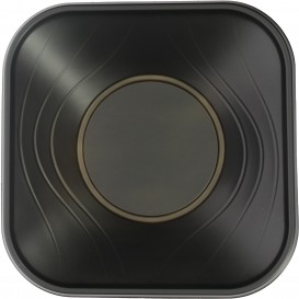 "Plastic Bowl PP Square shape ""X-Table"" Black 18x18cm (8 Units)"