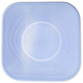 "Plastic Bowl PP Square shape ""X-Table"" Violet 18x18cm (8 Units)"