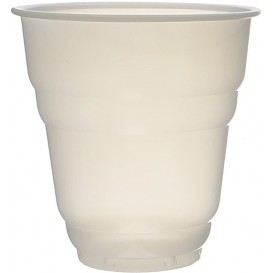 "Plastic Cup PS Vending ""Design"" White Satin 166ml Ø7,0cm (3000 Units)"