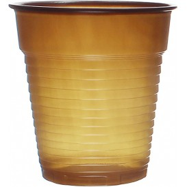 Plastic Cup PS Vending Brown 166ml Ø7,0cm (100 Units)